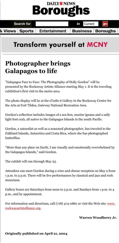 New York Daily News 4-21-04