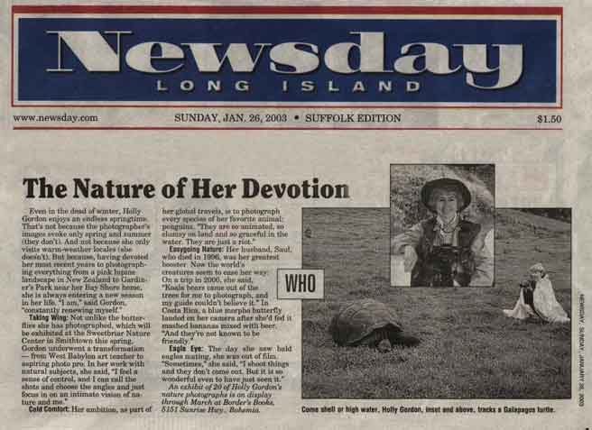 New York Newsday 1-26-03