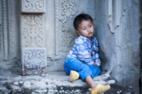 Angkor Thom Tired Toddler