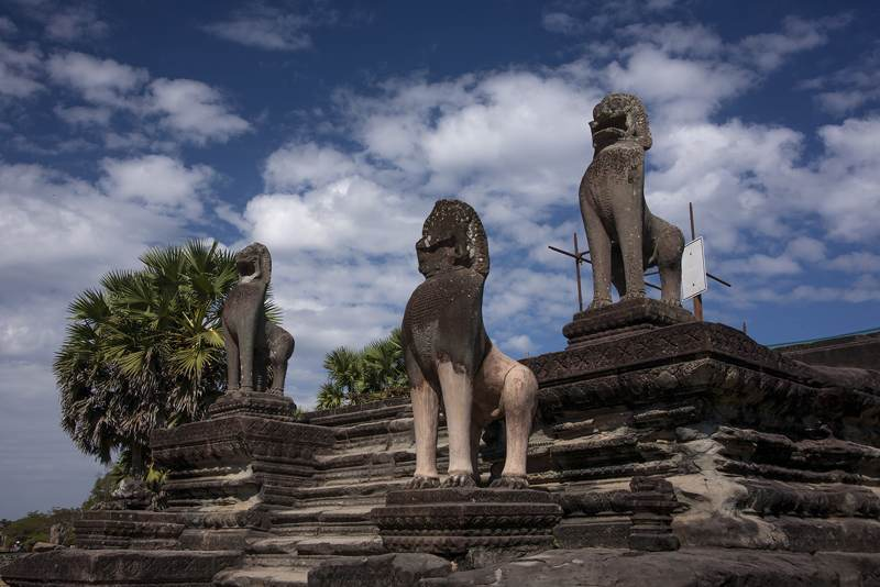 The Lions of Angkor Thom