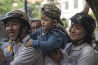 Saigon Family on Motorbike