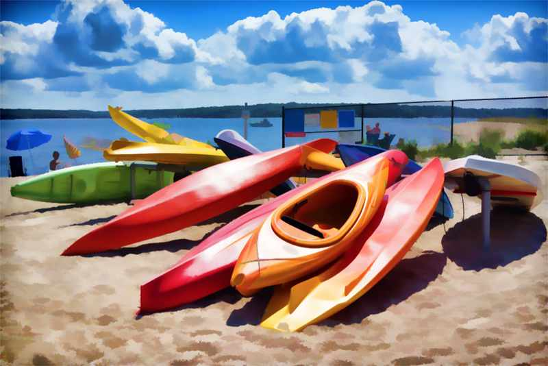 Holly Gordon: Kayaks at Bay