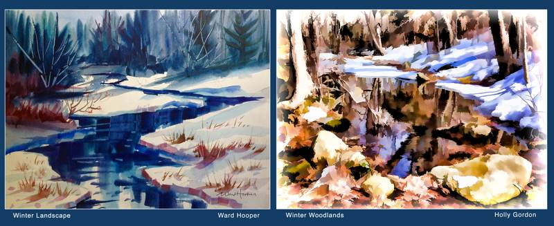 Winter Landscape and Winter Woodlands