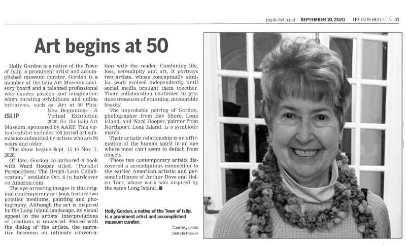 The Islip Bulletin promotes AARP virtual exhibit and book