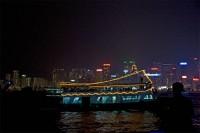 Cruising Hong Kong Harbor at Night