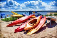 Kayaks at Bay