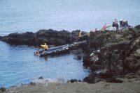The Visitors' Landing on Bartolomé, (Bartholomew Island)